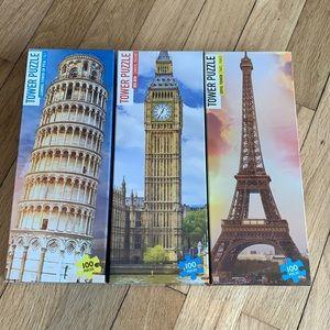 Set of Three 100-Piece Puzzles